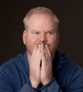Jim Gaffigan making a goofy excited face