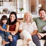 Family photo with seniors